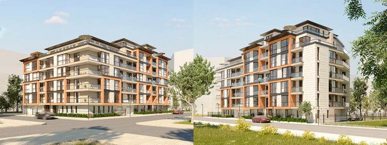 ARCHITECTURAL RENDERING - EXTERIOR STREET VIEW