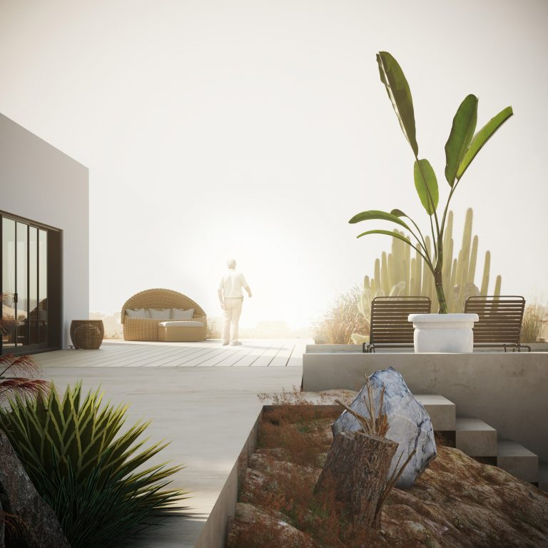 THE HOUSE IN THE DESERT CGI Visualization