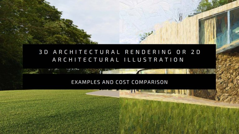 3D Architectural Rendering or 2D Architectural Illustration [examples]