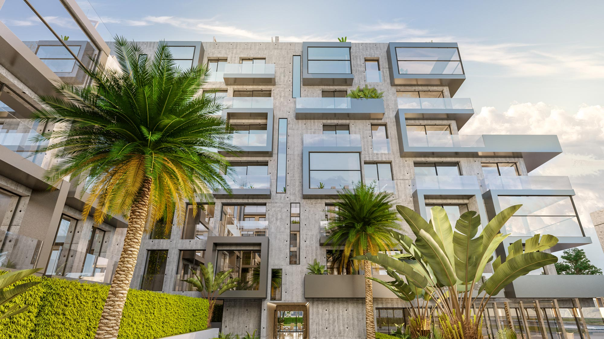 XO residences Exterior 3D rendering