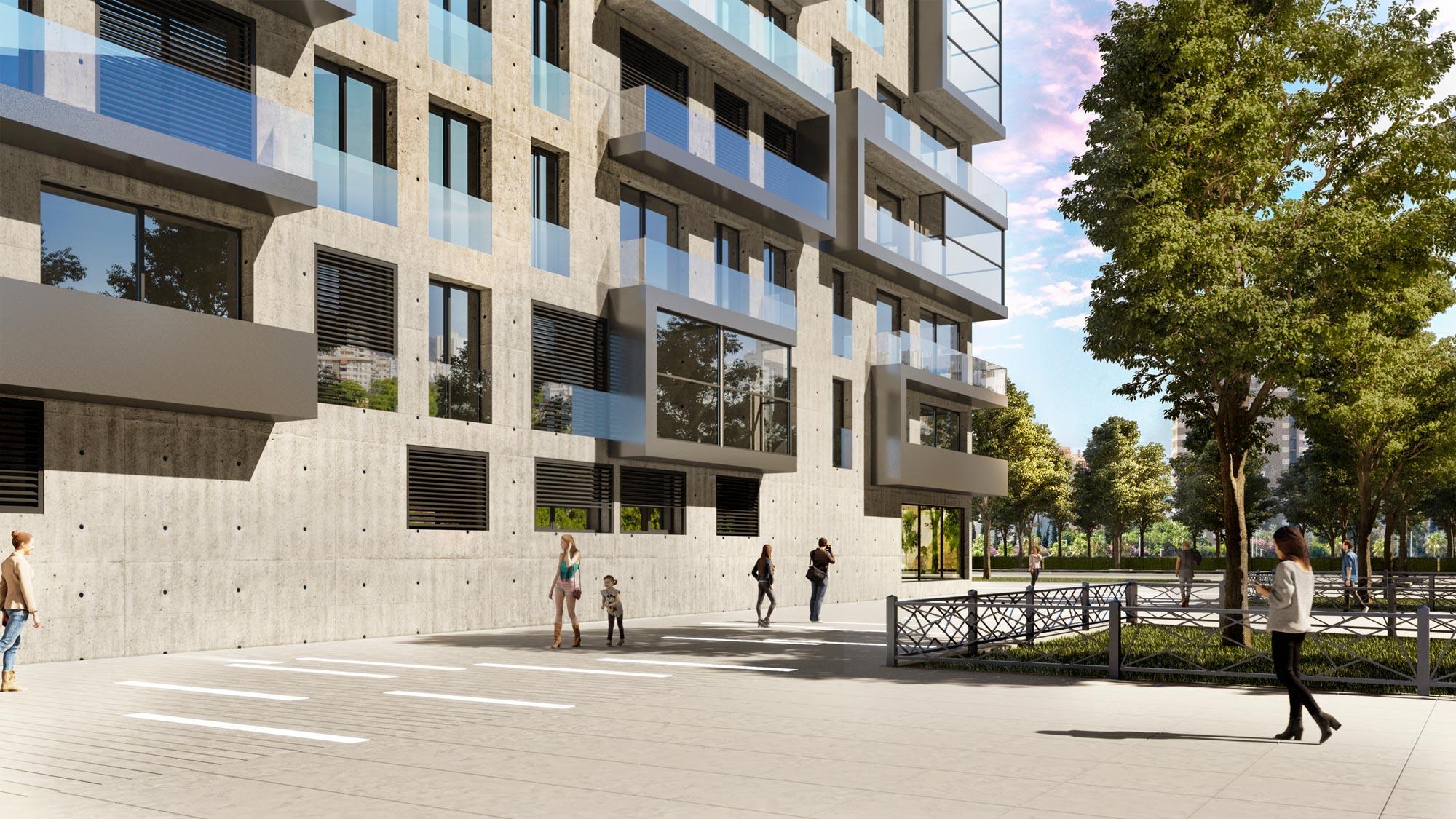 XO residences External 3D rendering
