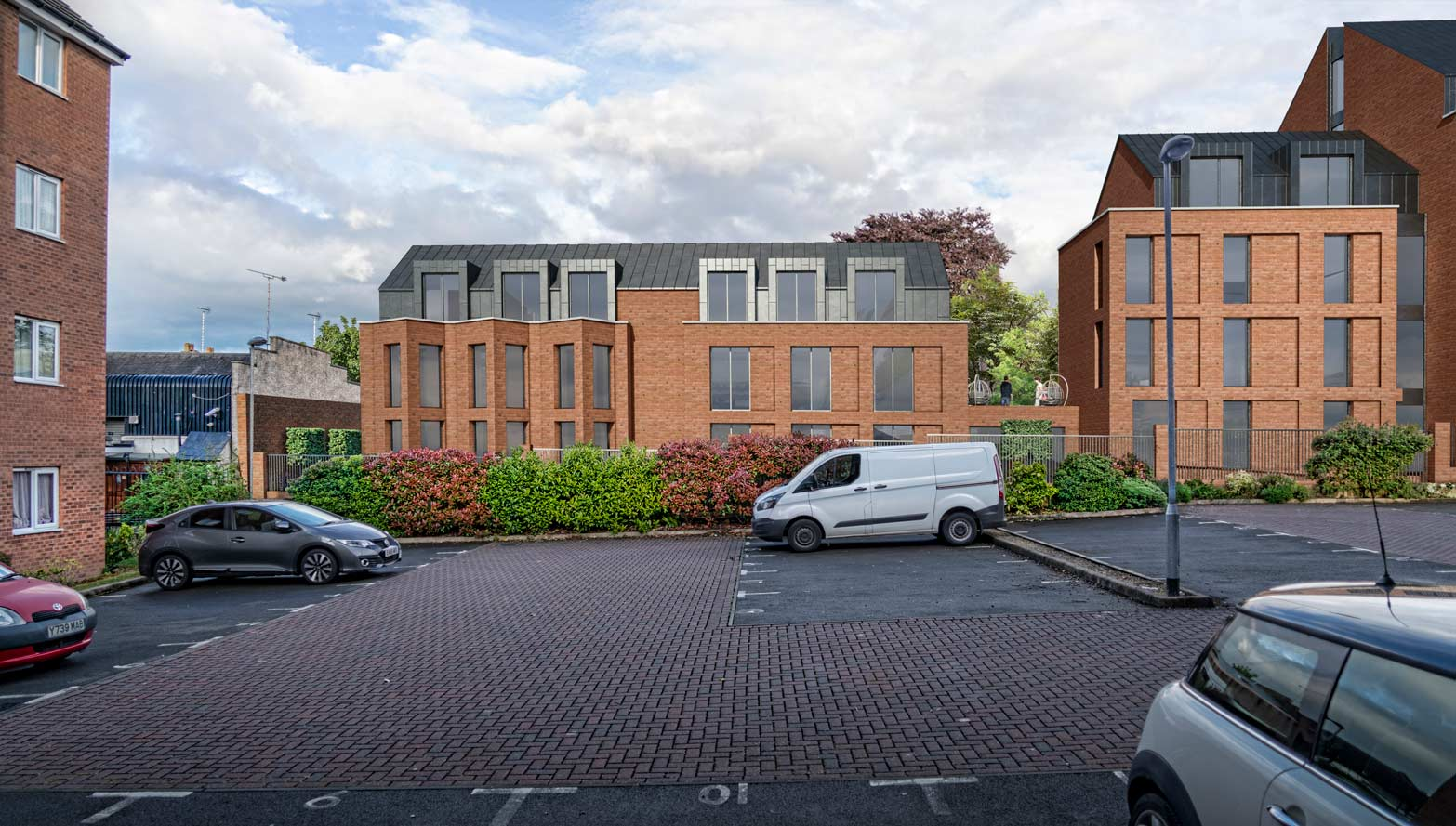 Luxury Student Accommodation CGI and Aerial imagery