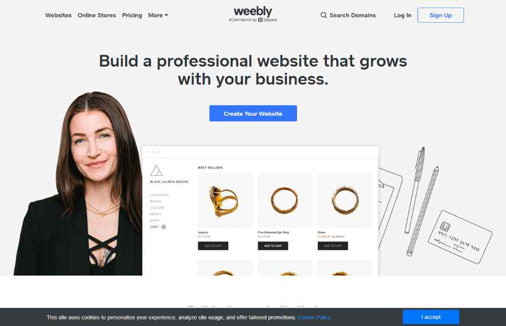 real estate mini website weebly