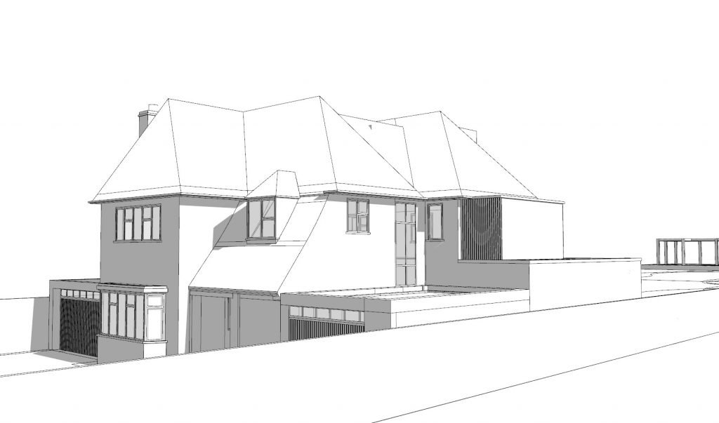 5 bed house concept front north