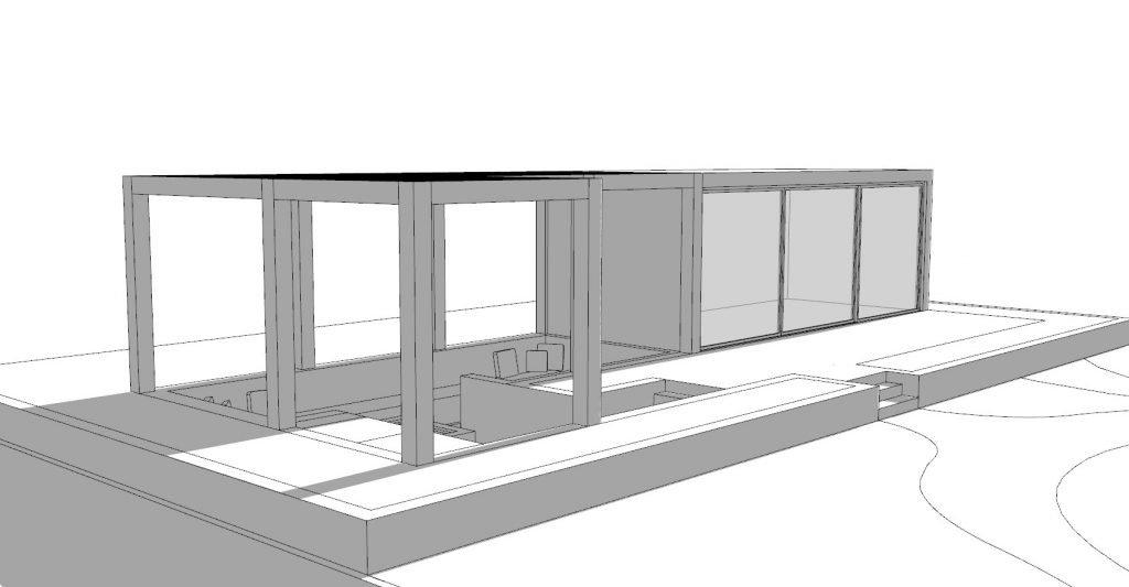 5 bed house concept garden house