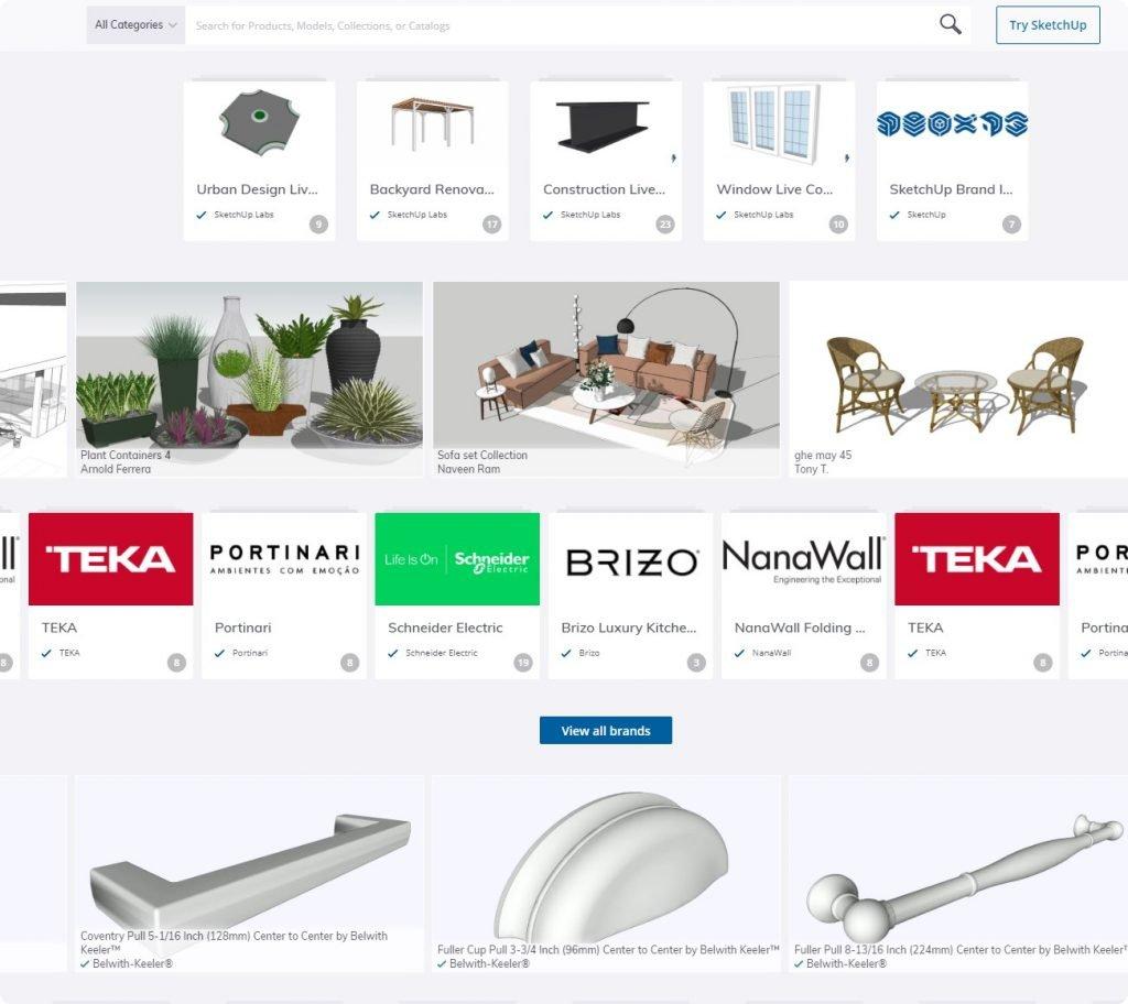 free 3D furniture 3Dwarehouse