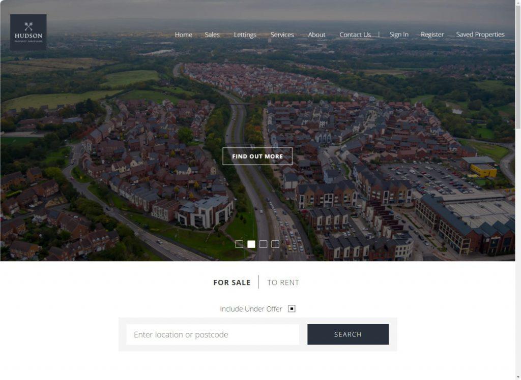 Hudson Property Shropshire website