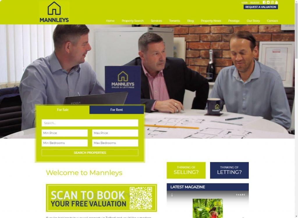 Mannleys estate agents telford website