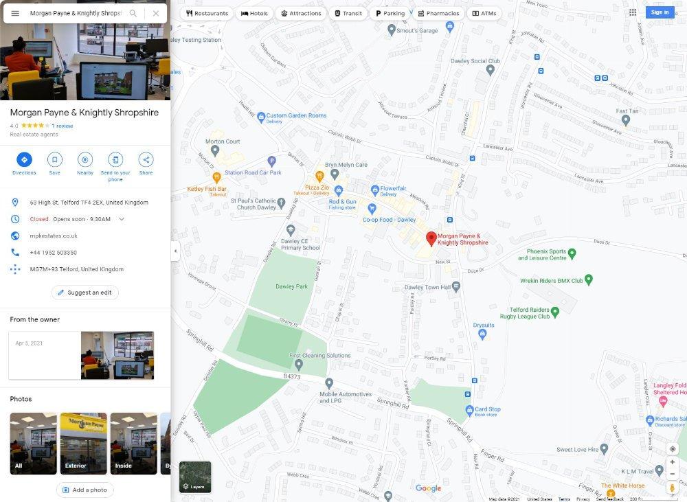 Morgan Payne & Knightly Shropshire google reviews