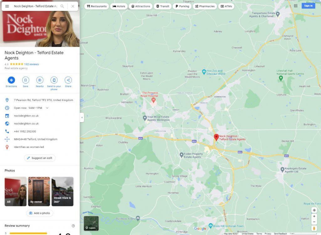 Nock Deighton estates agents telford reviews