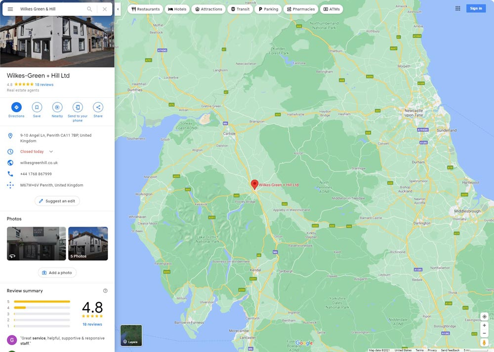 Wilkes-Green-&-Hill-estate-agents-penrith-lake-district-google-reviews