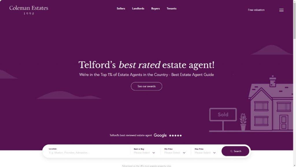 coleman estates agents telford website