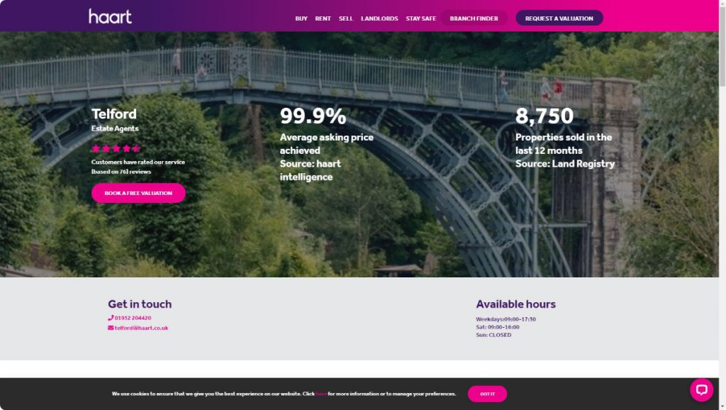 harrt estates agents telford website