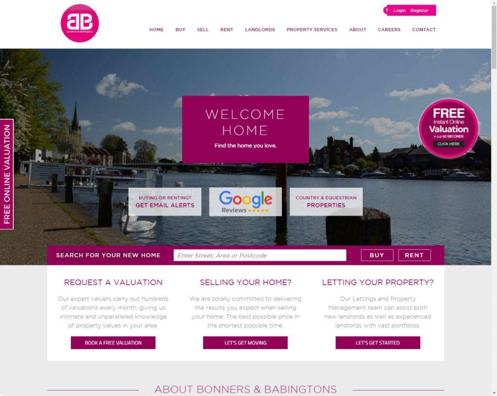 Bonners&Babingtons Marlow real estate website