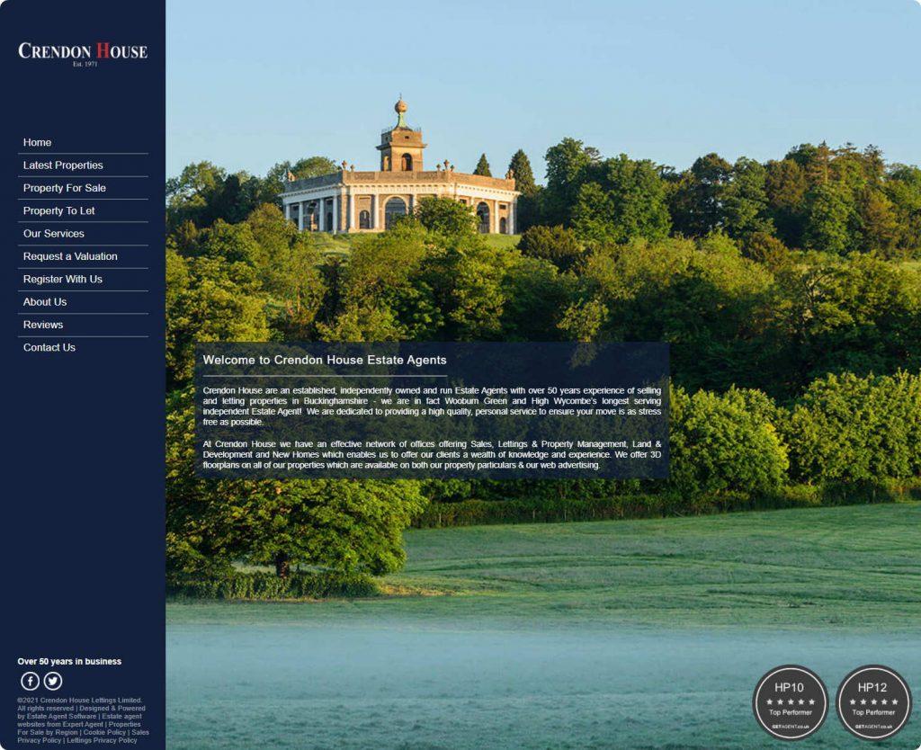 Crendon House estate agents Beaconsfield website