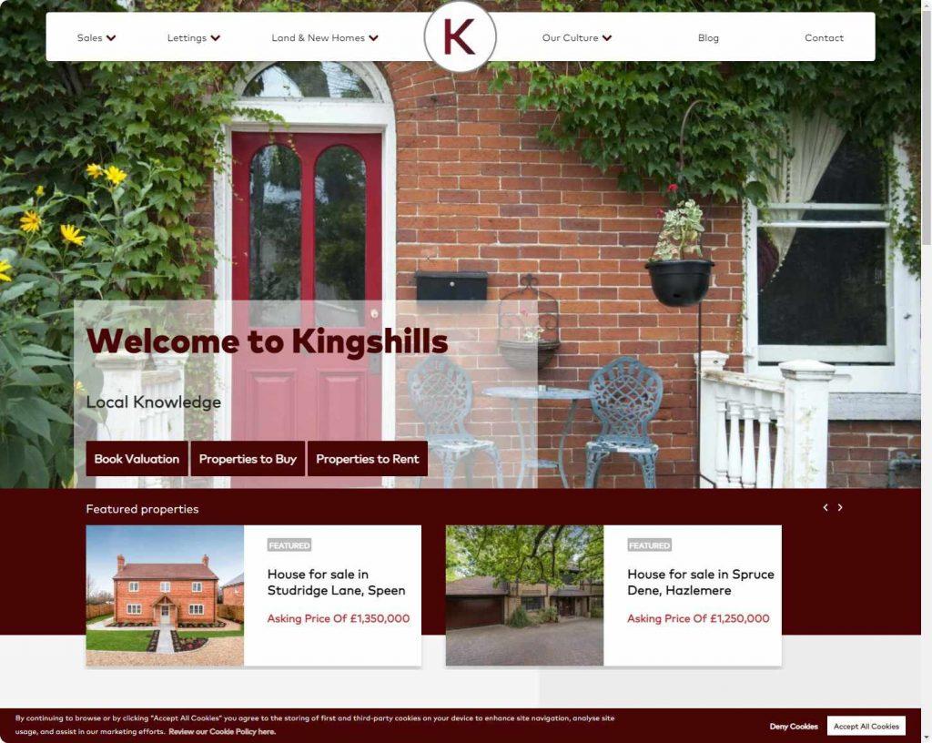 Kingshills real estate agents beaconsfield webiste