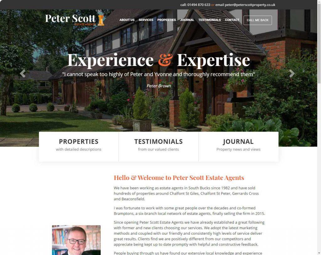 Peter Scott, Beaconsfield real estate website