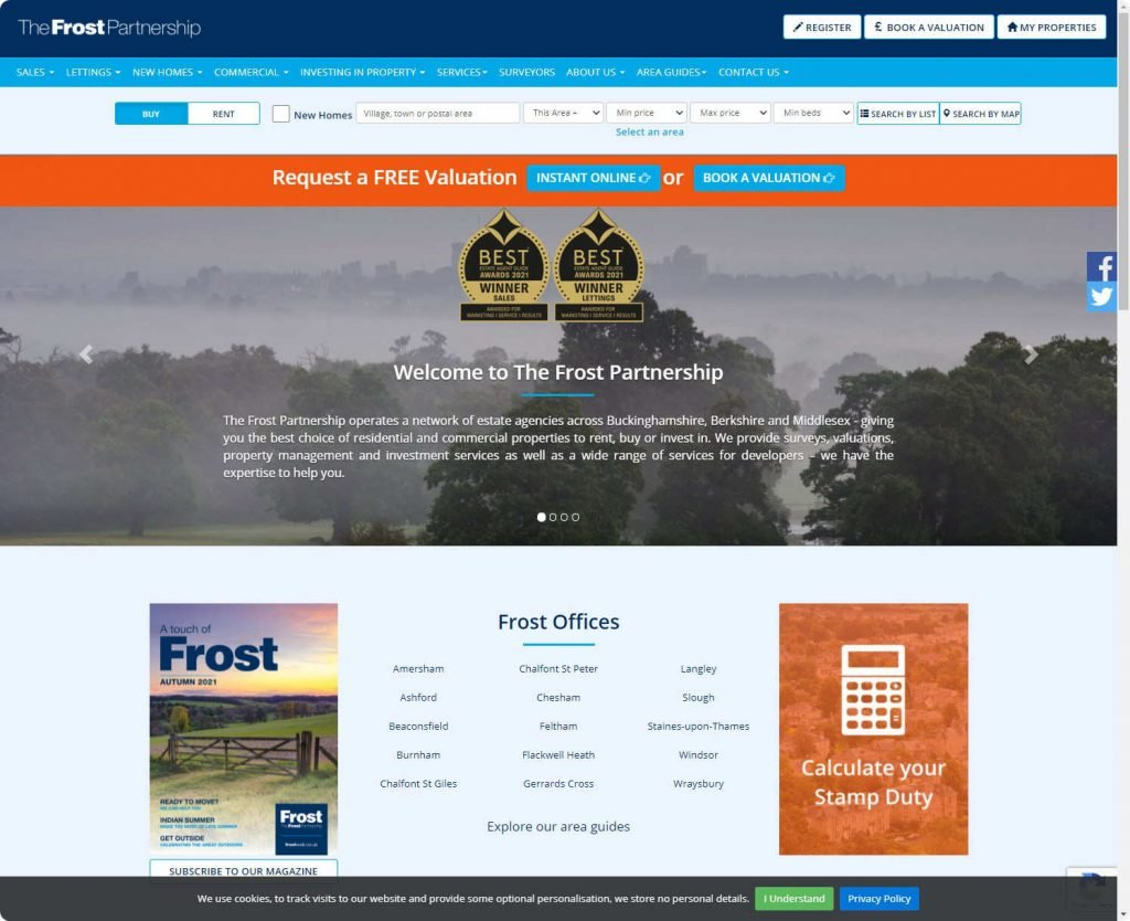 The Frost Partnership Beaconsfield website