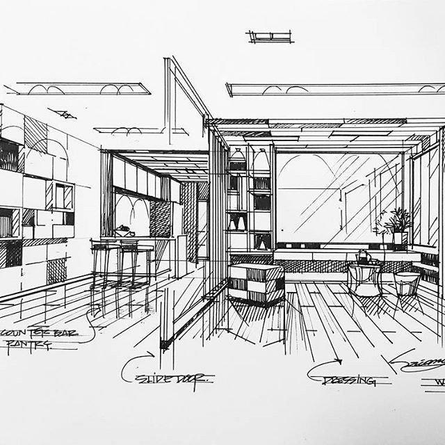 details of interior rendering