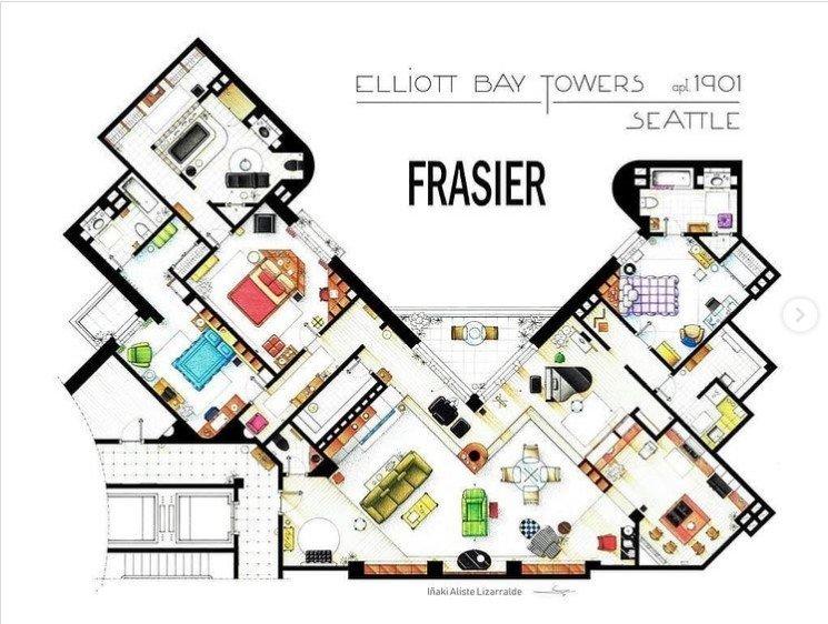 fraiser apartment - rendering floorplan