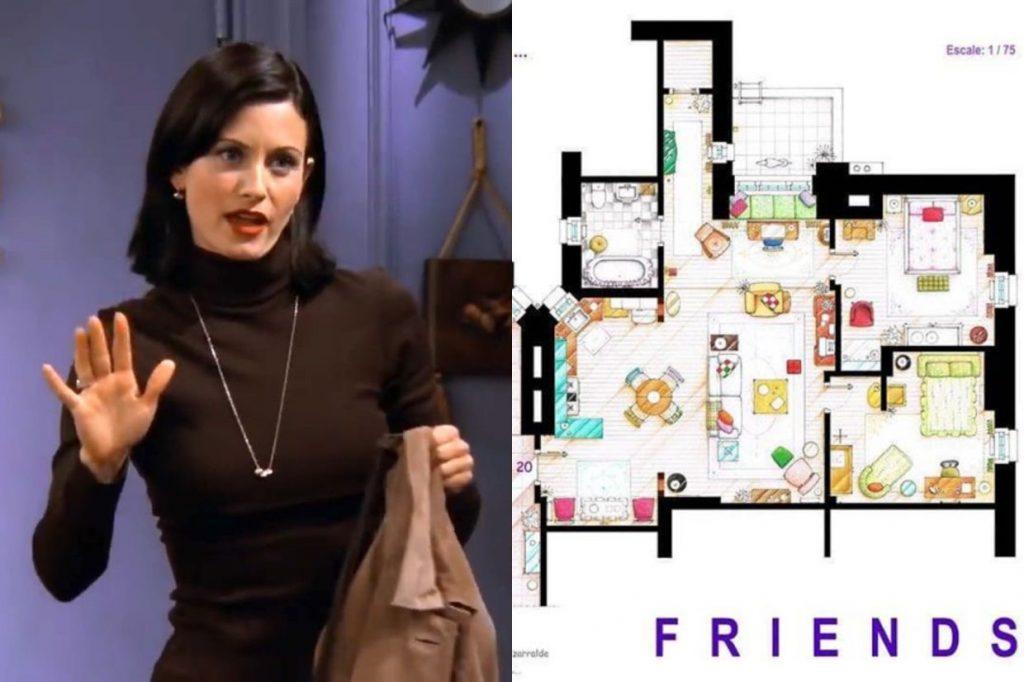 friends apartment - rendering floorplan